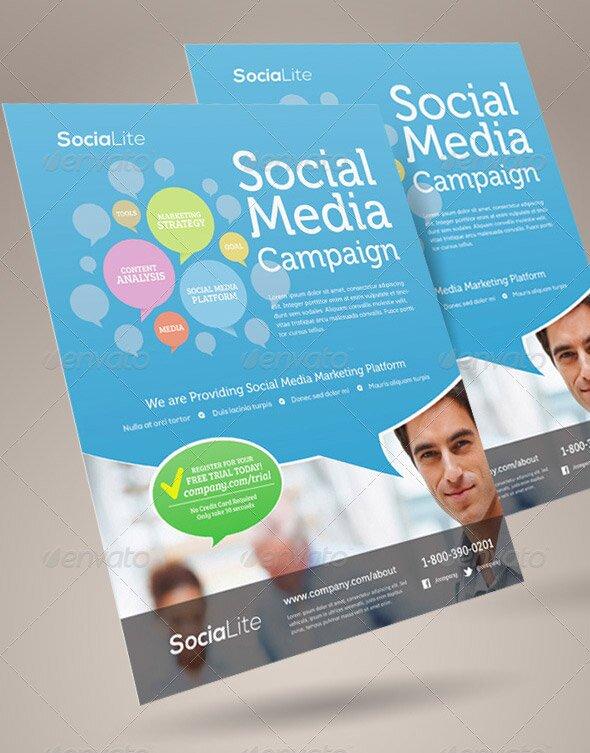 14 Great Social Media Flyer Templates (PSD \ InDesign) u2013 Design - campaign flyer template