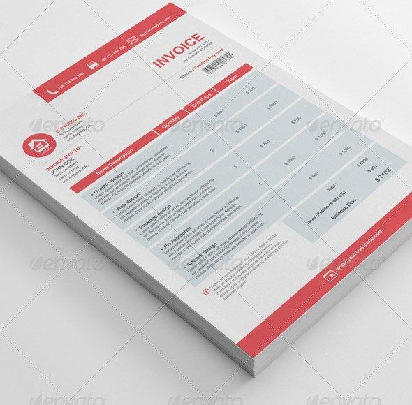 21 Useful Invoice InDesign Templates \u2013 Design Freebies