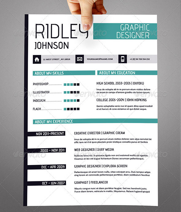 using indesign resume template