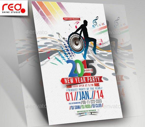2015 New Year Poster PSD Templates u2013 Design Freebies - new year poster template