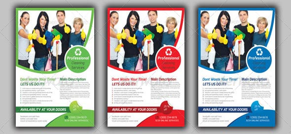 9 Nice Cleaning Service Flyer \ Brochure Templates u2013 Design Freebies - house cleaning flyer template