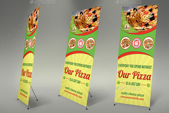 Print ready pizza menu flyer Posters Pinterest Pizza menu - food brochure