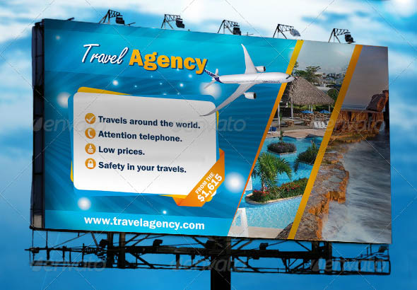Travel Vacation 15 Cool Travel Agency Banner & Signage Psds – Design Freebies