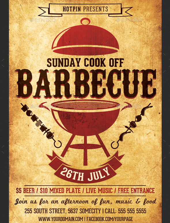 17 Cool Barbecue Party Event Flyer Templates u2013 Design Freebies - bbq flyer