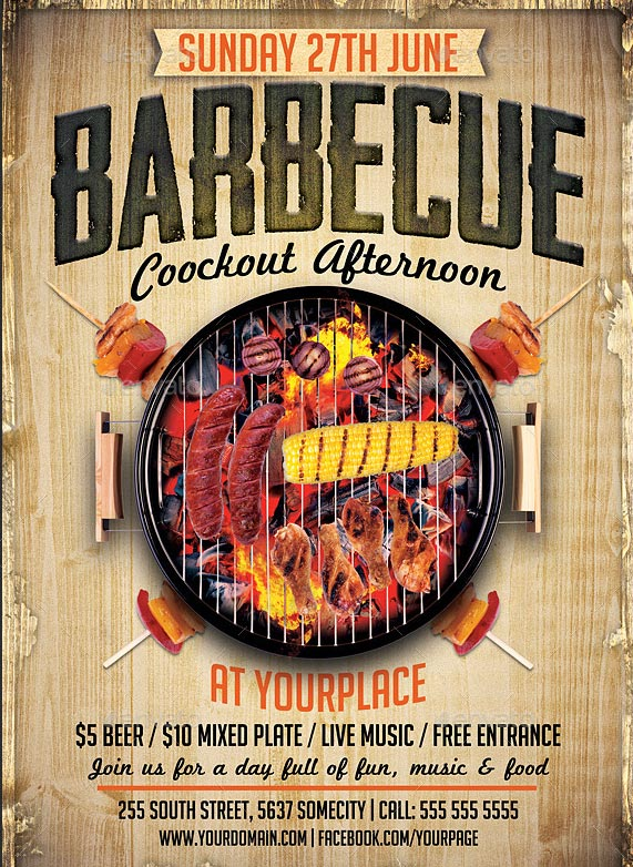 17 Cool Barbecue Party Event Flyer Templates \u2013 Design Freebies