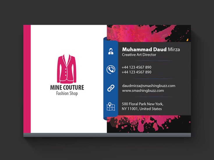 Free fashion business card template freebiesjedi for Fashion business card template