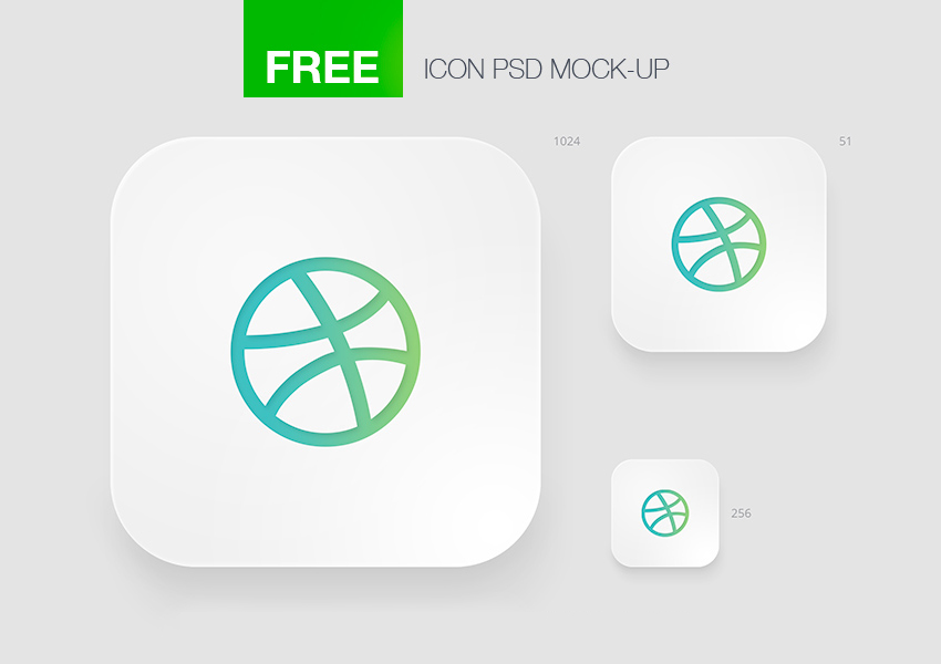 Apple iOS Icon Template for Photoshop - FreebiesUI - iphone app icon template