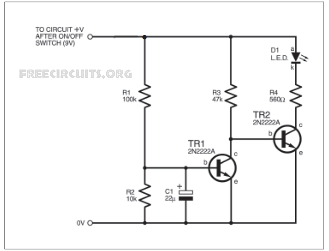 image low battery indicator circuit