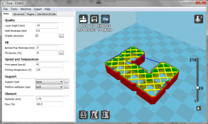 One of the puzzle pieces, and my general printing settings in Cura.