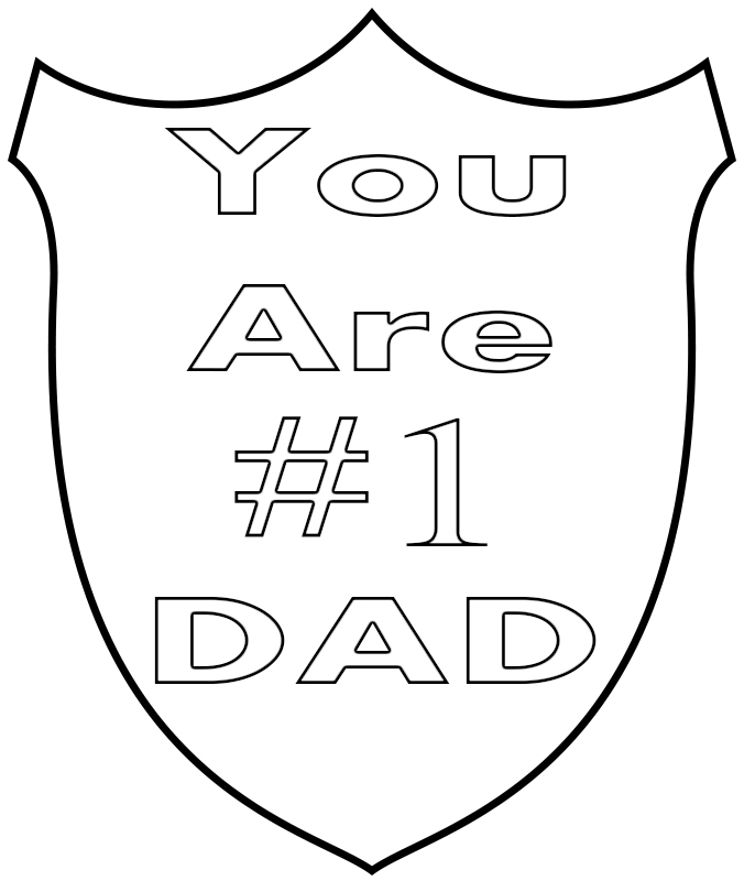 I Love You Dad Coloring Pages Printable Free
