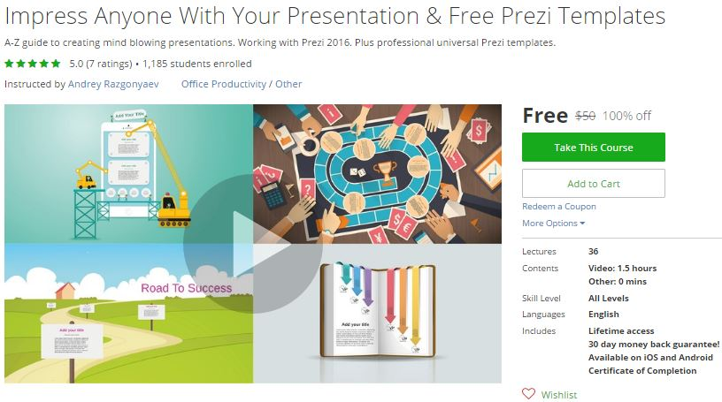 Udemy Coupon Impress Anyone With Your Presentation