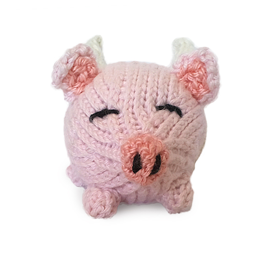 Free Oink Pig Animal Stuffed Toy Knitting Pattern Tutorials