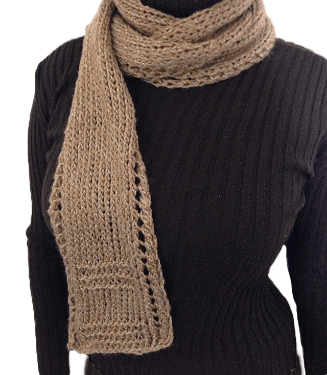 Free Knitting Patterns For Scarves For Beginners : Free Unisex Easy Beginner Lace Border Scarf Knitting Pattern