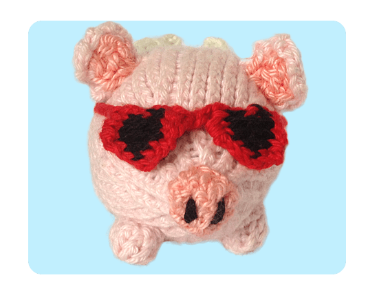 Knitting Pattern Png : Free cute heart black sunglasses pirate eye patch