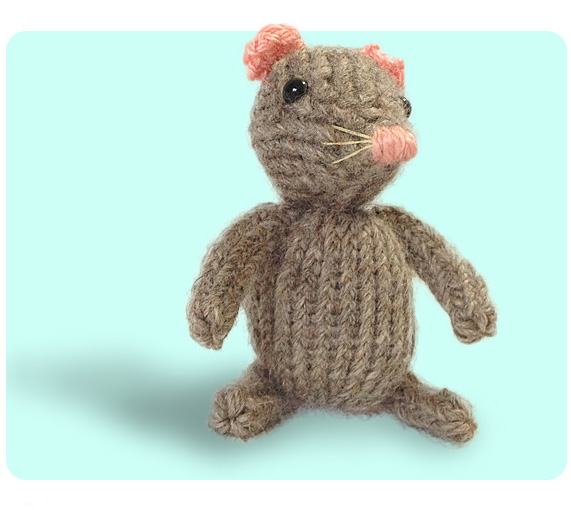 Free Cute Mouse Knitting Pattern How To Knit Icord Sl1 K2tog Psso