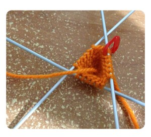 Sweet Carrot knitting progress at Round 5