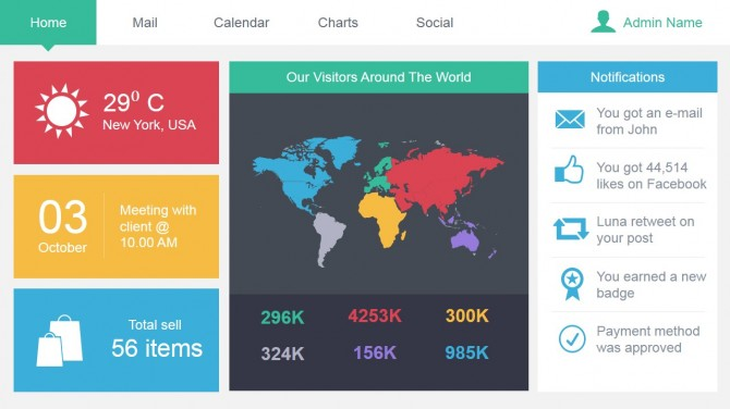 Best Powerpoint Presentation Design Inspiration 01-worldmap-data - dashboard design inspiration