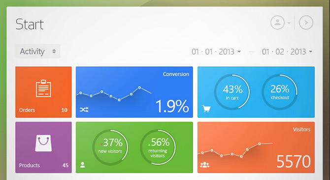 6 Best Flat Dashboard Web Designs - Free Dashboard Templates