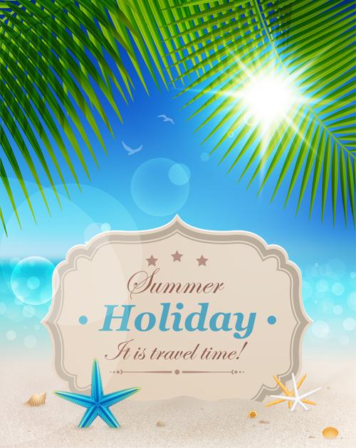 Summer holiday design Elements vector Set 04 free download