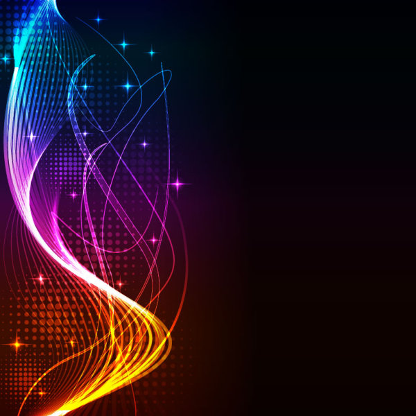 Wallpaper Graffiti Keren 3d Colorful Shiny Waves Background Vector Graphic 02 Free