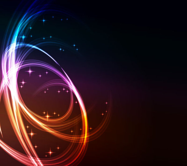 Download Wallpaper Keren 3d Colorful Shiny Waves Background Vector Graphic 05 Free