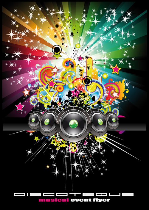 3d Emoticons Wallpapers Bright Music Theme Elements Background Vector 04 Free Download
