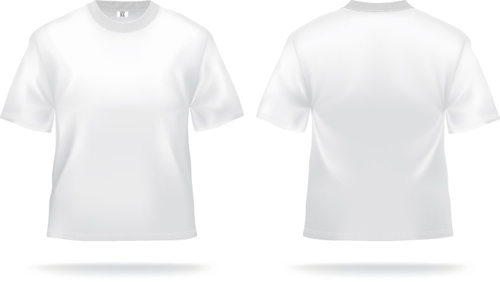 White T-shirts template vector set 02 free download