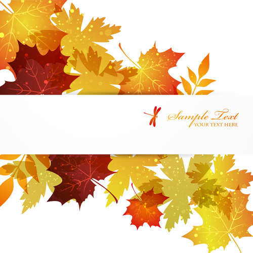 Falling Maple Leaves Wallpaper Autumn Beautiful Leaves Theme Background Vector 01 Free