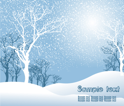 The Yellow Wallpaper Falling Action Elements Of Winter With Snow Backgrounds Vector 01 Free
