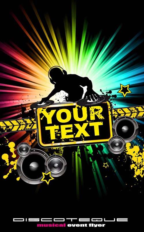 Wallpaper Gambar Grafiti 3d Set Of Musical Event Flyer Backgrounds Vector 07 Free Download