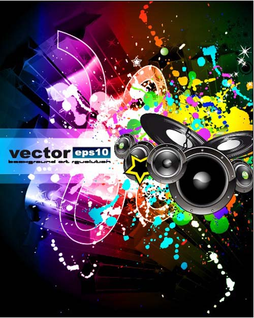 Set of musical event flyer backgrounds vector 08 free download