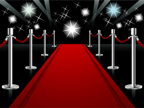 Ornate Red Carpet Backgrounds Vector Material 05 Free Download