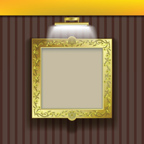 3d Emoticons Wallpapers Luxurious Frame Background Art Vector 01 Free Download
