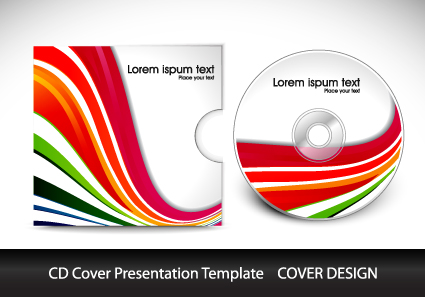 CD cover presentation vector template material 08 free download
