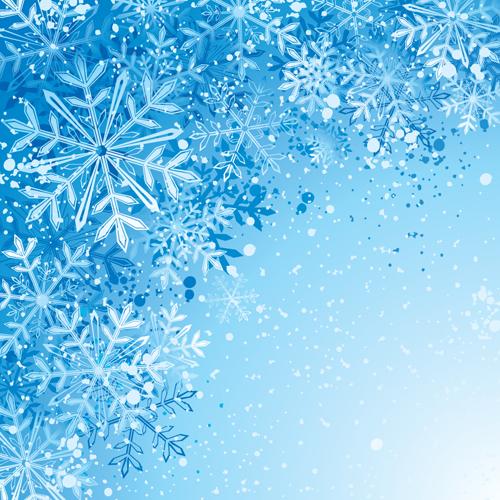Winter snowflake backgrounds art design vector 05 \u2013 Over millions