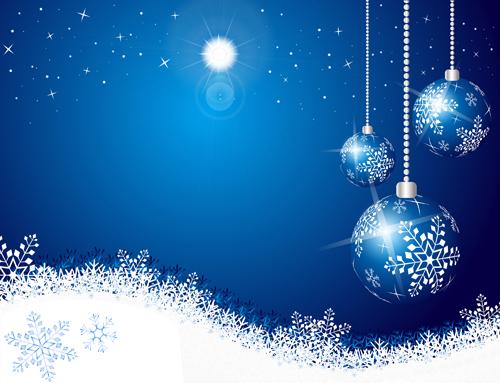 Shiny xmas winter snowflake background vector 04 \u2013 Over millions