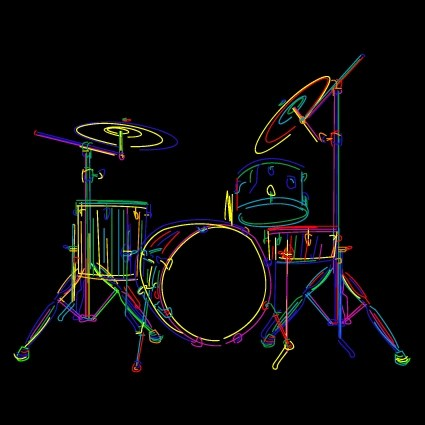 Neon Car Theme Wallpaper Color Lines Musical Instruments Vector 03 Free Download