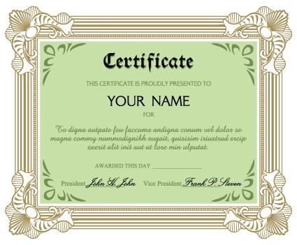 Diplomas and certificates design vector template 01 - Vector Cover - certificate design format