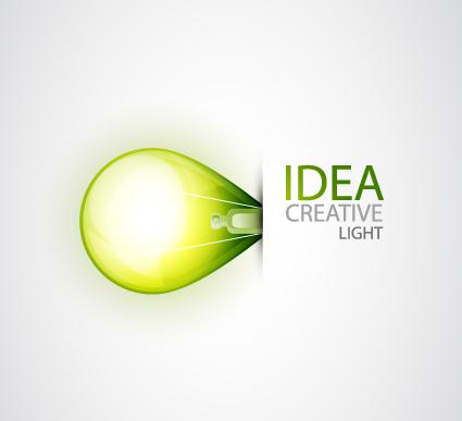 Idea creative light design elements vector 01 free download