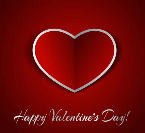 Romantic Happy Valentine day cards vector 16 free download