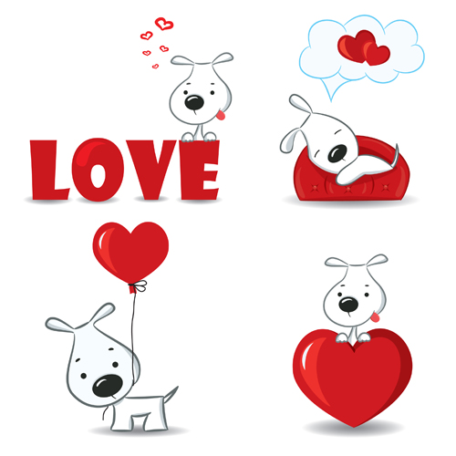 Bushra 3d Wallpaper Set Of Funny Valentine Card Vector Graphics 04 Free Download