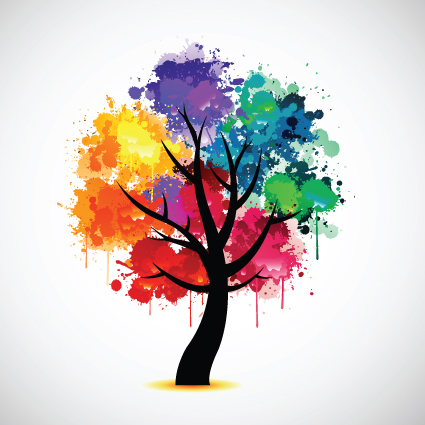 Creative colorful tree design elements vector 05 \u2013 Over millions