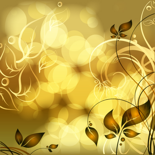 3d Emoticons Wallpapers Gold Floral Vector Backgrounds Art 04 Free Download