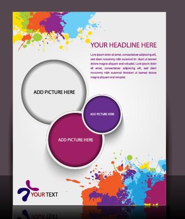Stylish Brochure flyer design vector graphic 03 free download