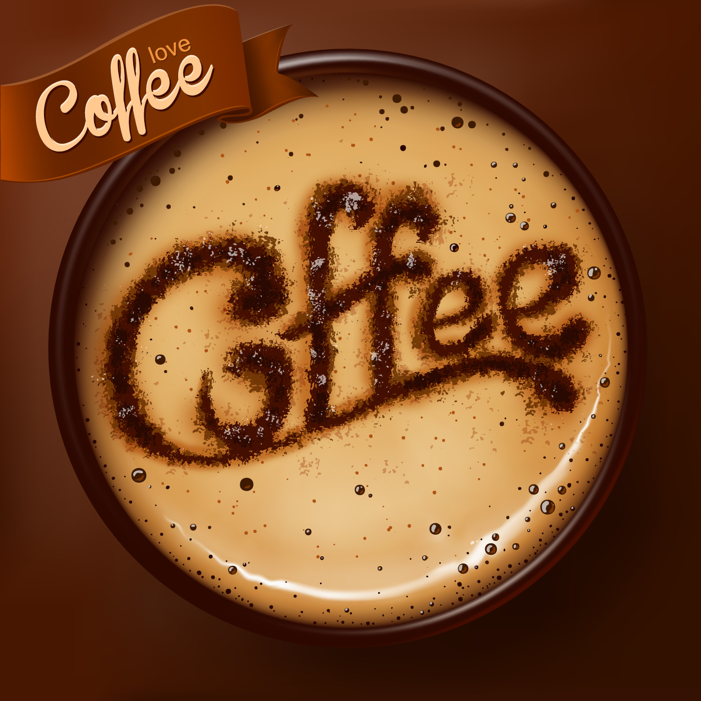 3d Emoticons Wallpapers Romantic Coffee Labels Design Vector 03 Free Download