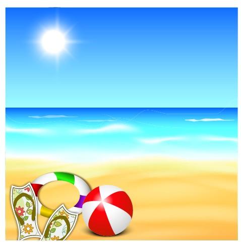 Beautiful summer beach background 01 u2013 Over millions vectors - summer powerpoint template
