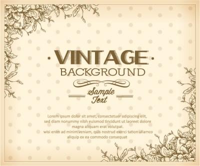 Elegant Vintage background set 06 free download
