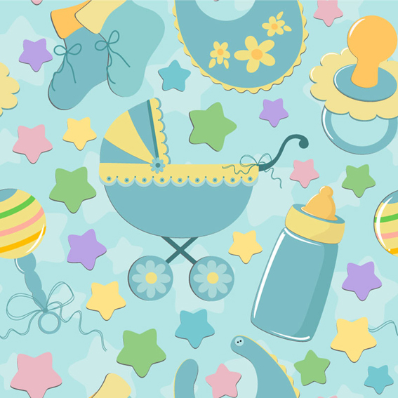Baby cute background vector free download