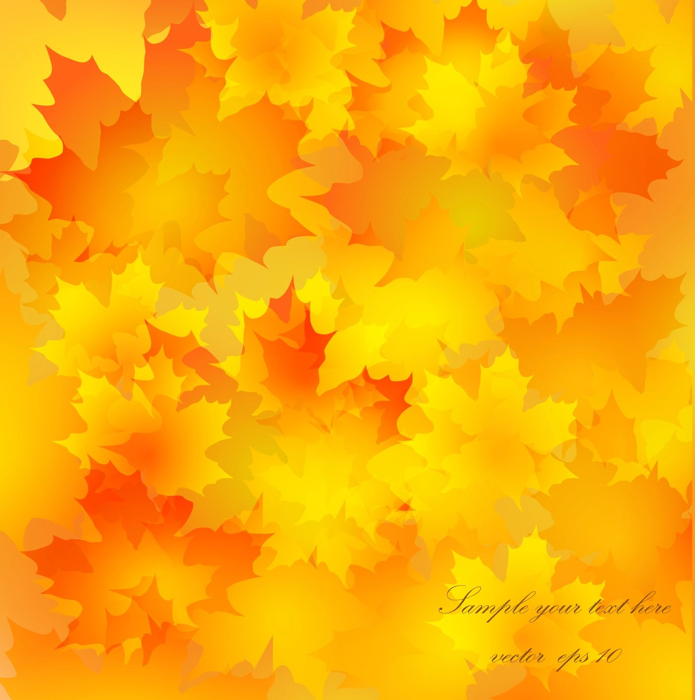 The Yellow Wallpaper Falling Action Autumn Golden Yellow Background Vector 06 Free Download
