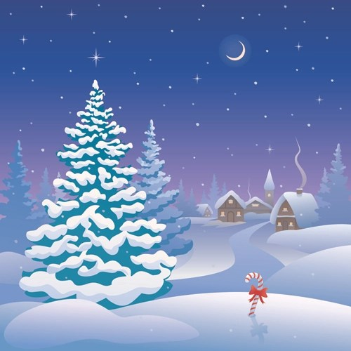 Free Christmas Falling Snow Wallpaper Cartoon Winter Nature Background Vector 03 Free Download
